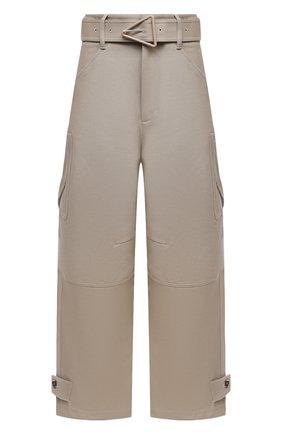 Женские хлопковые брюки BOTTEGA VENETA бежевого цвета, арт. 647711/V0BT0 | Фото 1
