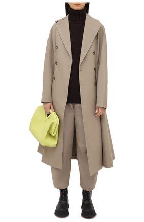 Женские хлопковые брюки BOTTEGA VENETA бежевого цвета, арт. 647711/V0BT0 | Фото 2