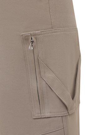 Женские хлопковые брюки BOTTEGA VENETA бежевого цвета, арт. 647711/V0BT0 | Фото 5
