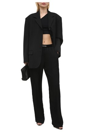 Женские брюки TOM FORD черного цвета, арт. PAW381-FAX180 | Фото 2
