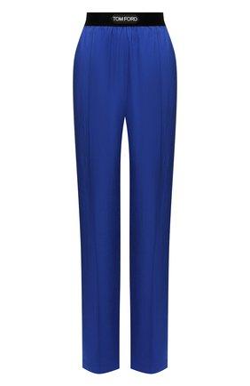 Женские брюки TOM FORD синего цвета, арт. PAW381-FAX180 | Фото 1