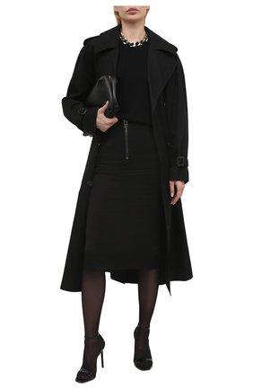 Женская хлопковая юбка TOM FORD черного цвета, арт. GC5578-FAX809 | Фото 2