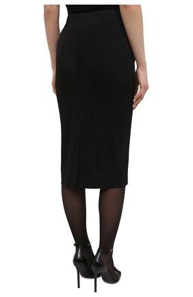 Женская хлопковая юбка TOM FORD черного цвета, арт. GC5578-FAX809 | Фото 4