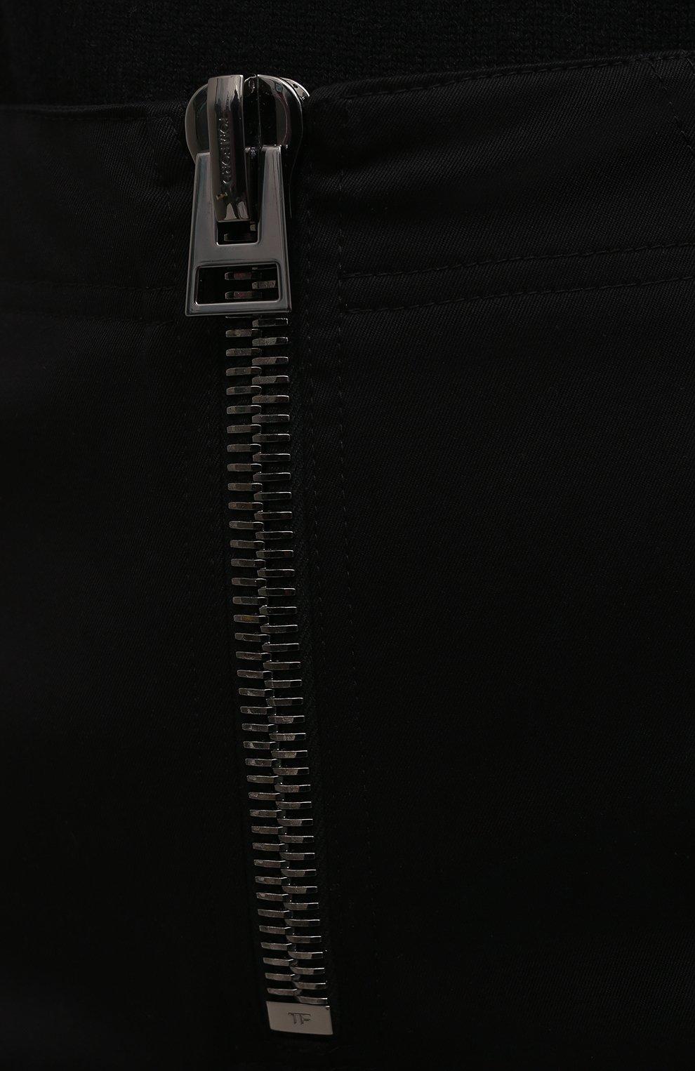 Женская хлопковая юбка TOM FORD черного цвета, арт. GC5578-FAX809 | Фото 5
