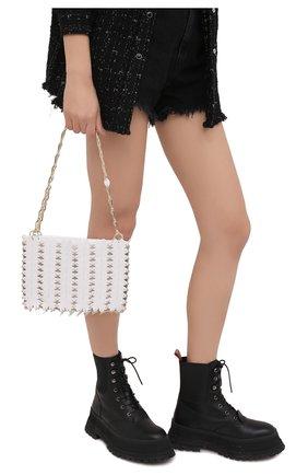 Женская сумка clover PACO RABANNE белого цвета, арт. 20ASS0199PLX045 | Фото 2