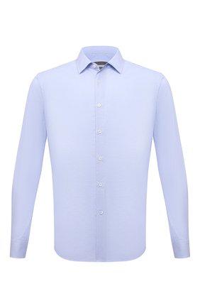 Мужская хлопковая сорочка CORNELIANI голубого цвета, арт. 87P010-1111269/00 | Фото 1