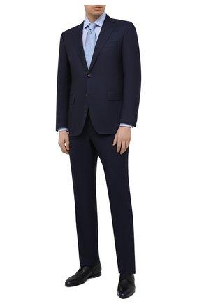 Мужская хлопковая сорочка CORNELIANI голубого цвета, арт. 87P010-1111269/00 | Фото 2