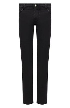 Мужские джинсы JACOB COHEN черного цвета, арт. J620 C0MF 06510-V/55 | Фото 1 (Длина (брюки, джинсы): Стандартные; Материал внешний: Хлопок; Кросс-КТ: Деним; Силуэт М (брюки): Прямые; Стили: Кэжуэл)