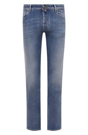 Мужские джинсы JACOB COHEN голубого цвета, арт. J620 LIMITED C0MF 08792-W3/55 | Фото 1