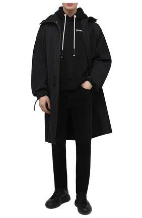 Мужские джинсы PALM ANGELS черного цвета, арт. PMYA012S21DEN0051001 | Фото 2