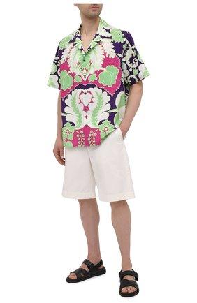 Мужские хлопковые шорты GUCCI белого цвета, арт. 639388/ZAF8C | Фото 2