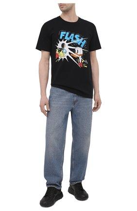 Мужская хлопковая футболка disney x gucci GUCCI черного цвета, арт. 548334/XJDAF | Фото 2 (Материал внешний: Хлопок; Рукава: Короткие; Длина (для топов): Стандартные; Стили: Гранж; Принт: С принтом)