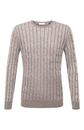 Мужской льняной свитер GRAN SASSO бежевого цвета, арт. 23180/24809 | Фото 1