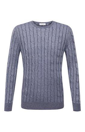 Мужской льняной свитер GRAN SASSO синего цвета, арт. 23180/24809 | Фото 1