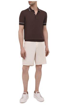 Мужское хлопковое поло GRAN SASSO коричневого цвета, арт. 57172/20650 | Фото 2