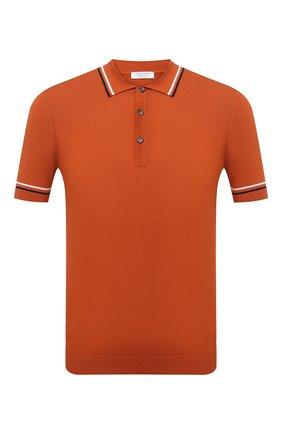 Мужское хлопковое поло GRAN SASSO оранжевого цвета, арт. 57172/20650 | Фото 1