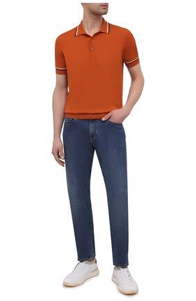 Мужское хлопковое поло GRAN SASSO оранжевого цвета, арт. 57172/20650 | Фото 2
