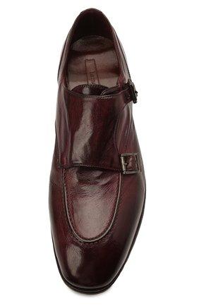 Мужские кожаные монки LEMARGO бордового цвета, арт. DB10A/RANCH | Фото 5