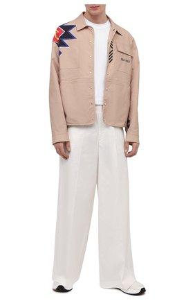 Мужские хлопковые брюки 2 moncler 1952 MONCLER GENIUS белого цвета, арт. G1-092-2A726-00-5499M | Фото 2 (Материал внешний: Хлопок; Длина (брюки, джинсы): Стандартные; Случай: Повседневный; Стили: Минимализм)