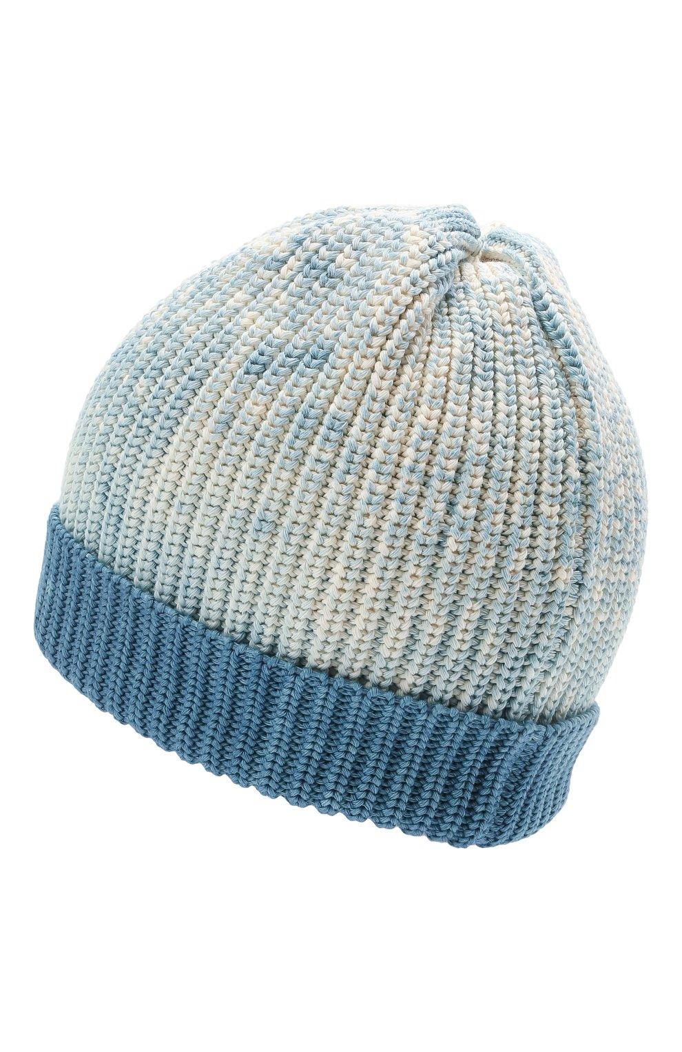 Мужская хлопковая шапка MONCLER голубого цвета, арт. G1-091-9Z761-60-V9170 | Фото 2