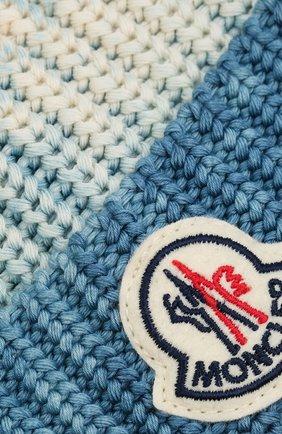 Мужская хлопковая шапка MONCLER голубого цвета, арт. G1-091-9Z761-60-V9170 | Фото 3