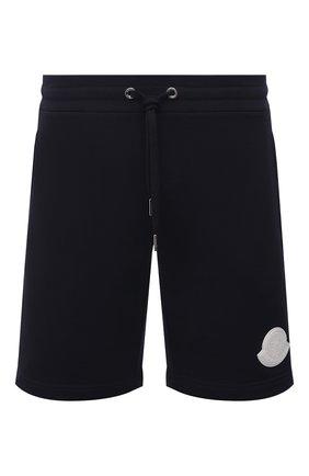 Мужские хлопковые шорты MONCLER темно-синего цвета, арт. G1-091-8H741-00-809KR | Фото 1
