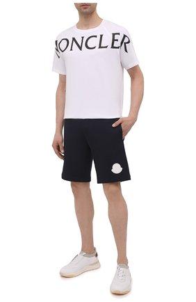 Мужские хлопковые шорты MONCLER темно-синего цвета, арт. G1-091-8H741-00-809KR | Фото 2