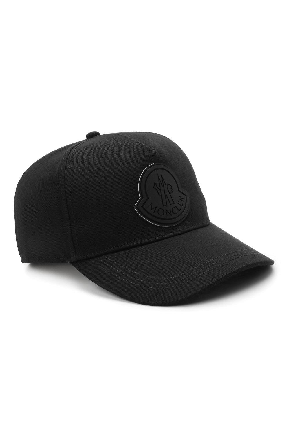 Мужской хлопковая бейсболка MONCLER черного цвета, арт. G1-091-3B763-00-04863   Фото 1