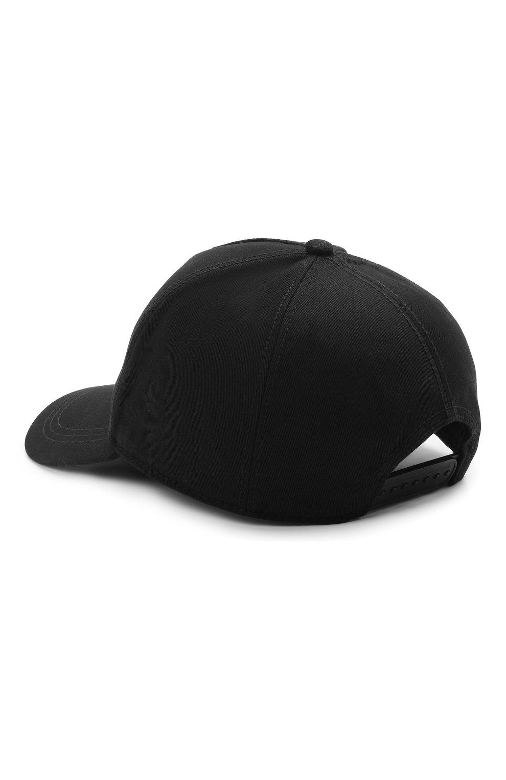 Мужской хлопковая бейсболка MONCLER черного цвета, арт. G1-091-3B763-00-04863   Фото 2