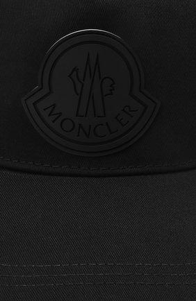 Мужской хлопковая бейсболка MONCLER черного цвета, арт. G1-091-3B763-00-04863   Фото 3