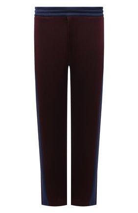 Мужские брюки ALEXANDER MCQUEEN бордового цвета, арт. 648107/QQX52 | Фото 1 (Материал внешний: Вискоза, Хлопок; Длина (брюки, джинсы): Стандартные; Случай: Повседневный; Стили: Кэжуэл)