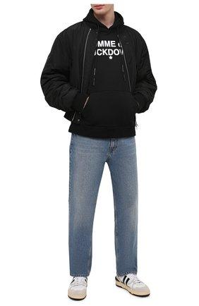 Мужской хлопковое худи COMME DES FUCKDOWN черного цвета, арт. CDFU1100   Фото 2