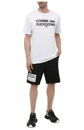 Мужская хлопковая футболка COMME DES FUCKDOWN белого цвета, арт. CDFU1101 | Фото 2