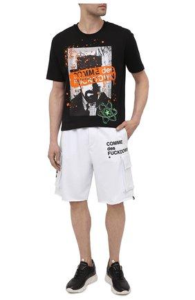 Мужские хлопковые шорты COMME DES FUCKDOWN белого цвета, арт. CDFU1119 | Фото 2