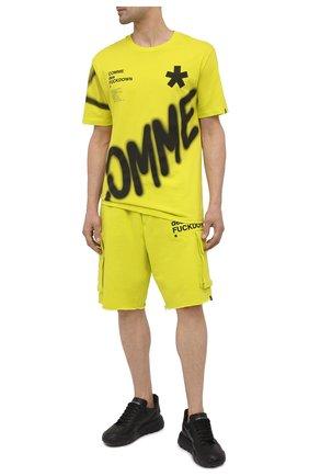 Мужские хлопковые шорты COMME DES FUCKDOWN светло-зеленого цвета, арт. CDFU1119 | Фото 2