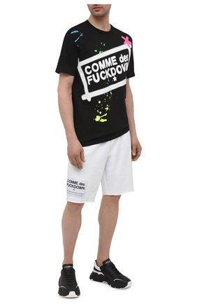Мужская хлопковая футболка COMME DES FUCKDOWN черного цвета, арт. CDFU1126 | Фото 2