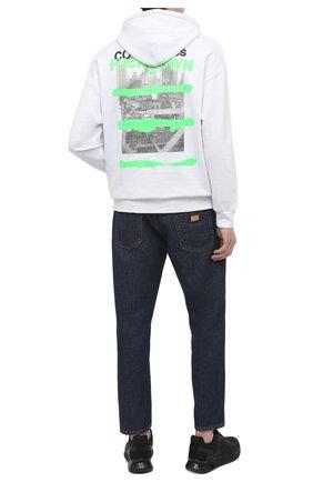 Мужской хлопковое худи COMME DES FUCKDOWN белого цвета, арт. CDFU1132 | Фото 2