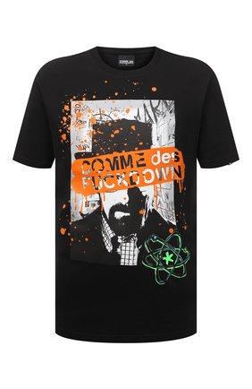 Мужская хлопковая футболка COMME DES FUCKDOWN черного цвета, арт. CDFU1141 | Фото 1