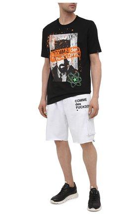 Мужская хлопковая футболка COMME DES FUCKDOWN черного цвета, арт. CDFU1141 | Фото 2