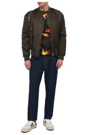 Мужская хлопковая футболка VALENTINO разноцветного цвета, арт. VV3MG00W72Q | Фото 2 (Рукава: Короткие; Длина (для топов): Стандартные; Материал внешний: Хлопок; Стили: Кэжуэл; Принт: С принтом)