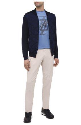 Мужская хлопковая футболка ZILLI голубого цвета, арт. MEV-NT250-EXTR1/MC01 | Фото 2 (Материал внешний: Хлопок; Рукава: Короткие; Длина (для топов): Стандартные; Стили: Кэжуэл; Принт: С принтом)