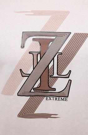 Мужская хлопковая футболка ZILLI белого цвета, арт. MEV-NT250-EXTR1/MC01   Фото 5