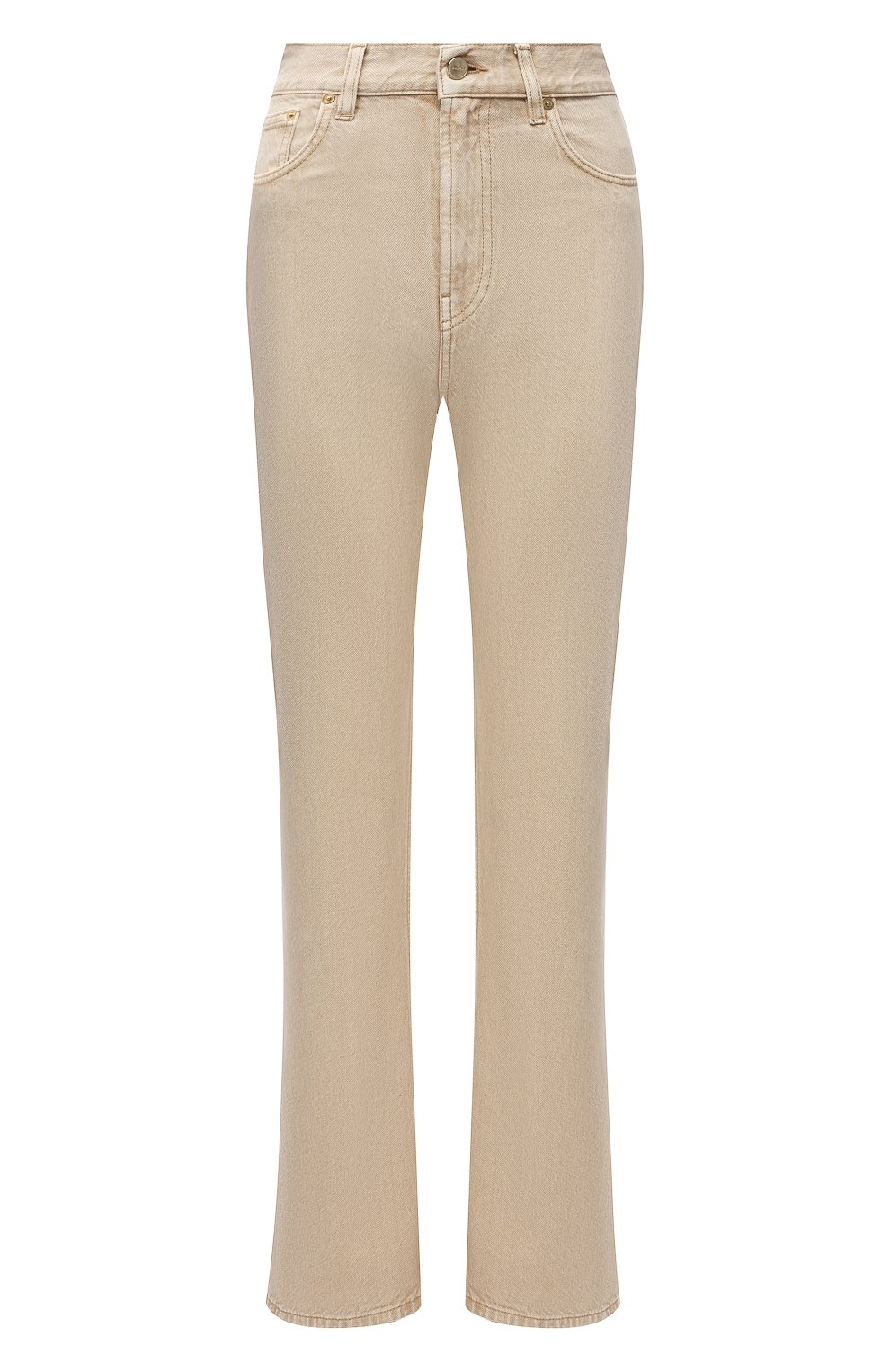 Женские джинсы JACQUEMUS бежевого цвета, арт. 211DE01/124810   Фото 1