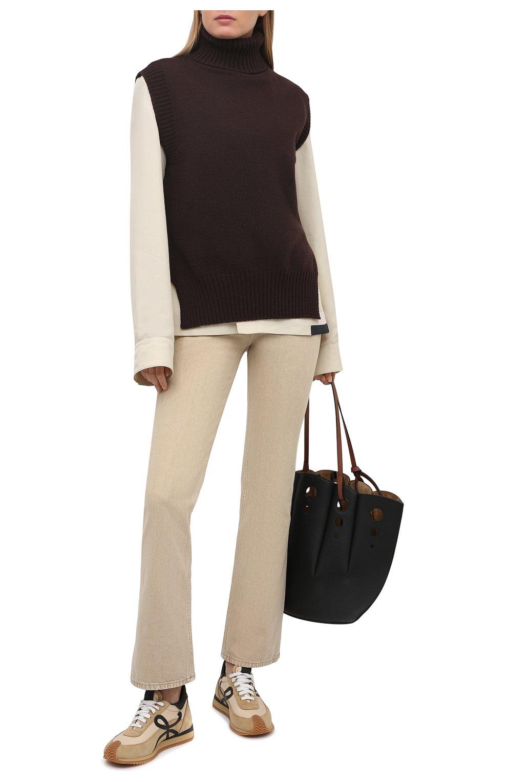 Женские джинсы JACQUEMUS бежевого цвета, арт. 211DE01/124810   Фото 2