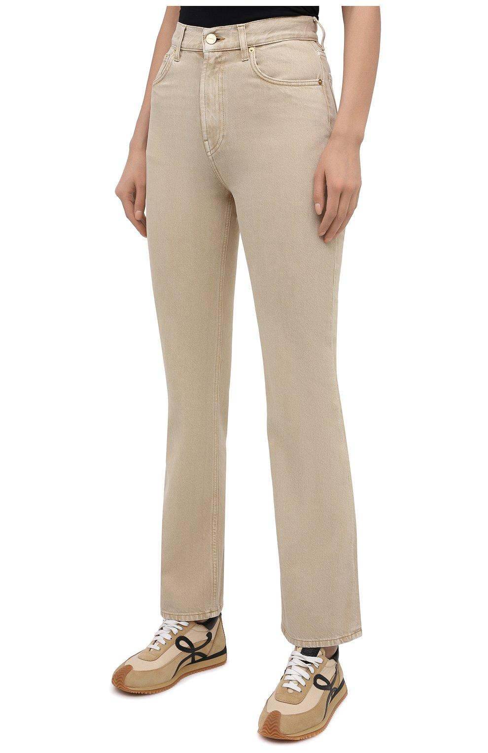 Женские джинсы JACQUEMUS бежевого цвета, арт. 211DE01/124810   Фото 3