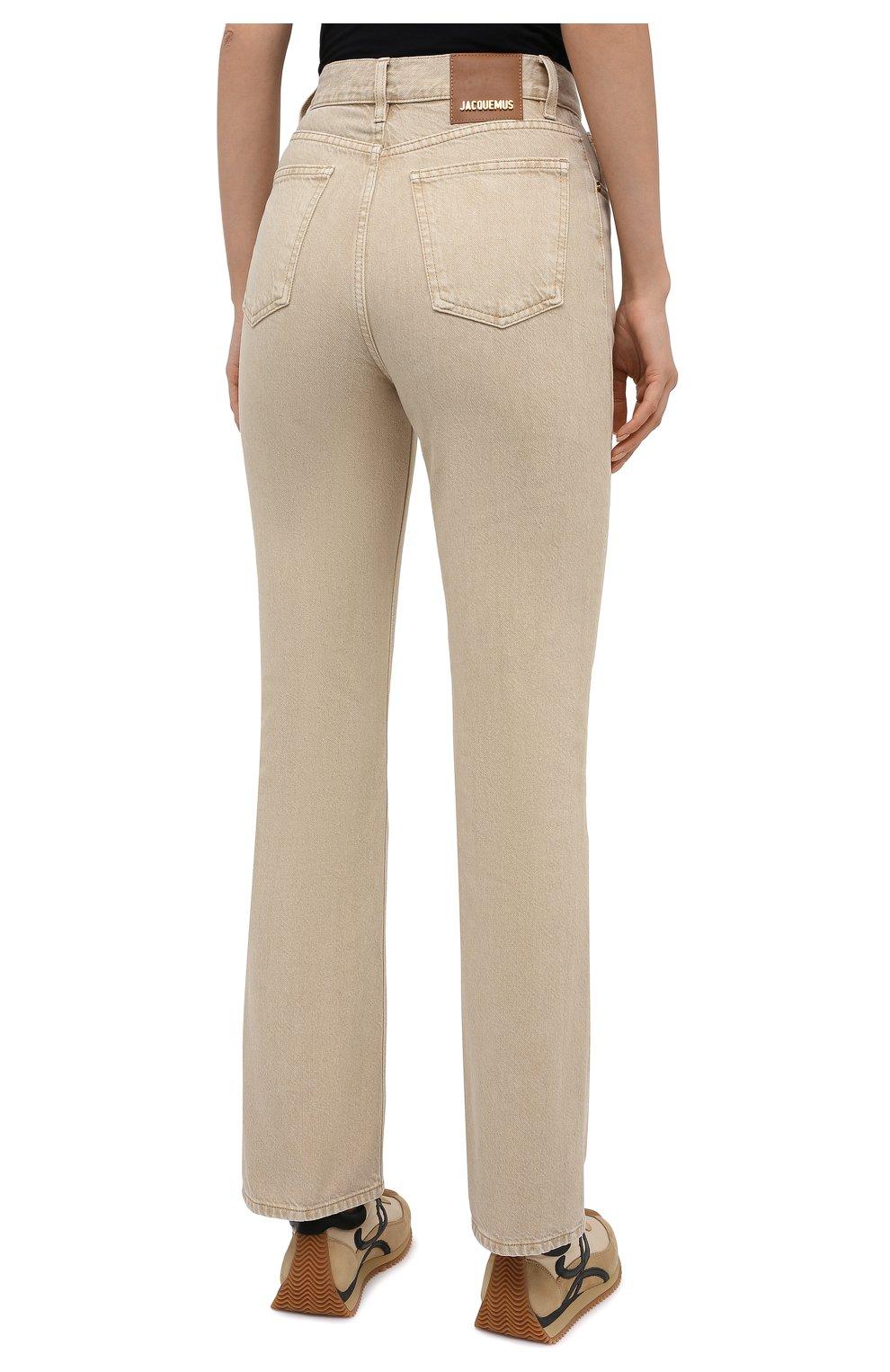 Женские джинсы JACQUEMUS бежевого цвета, арт. 211DE01/124810   Фото 4