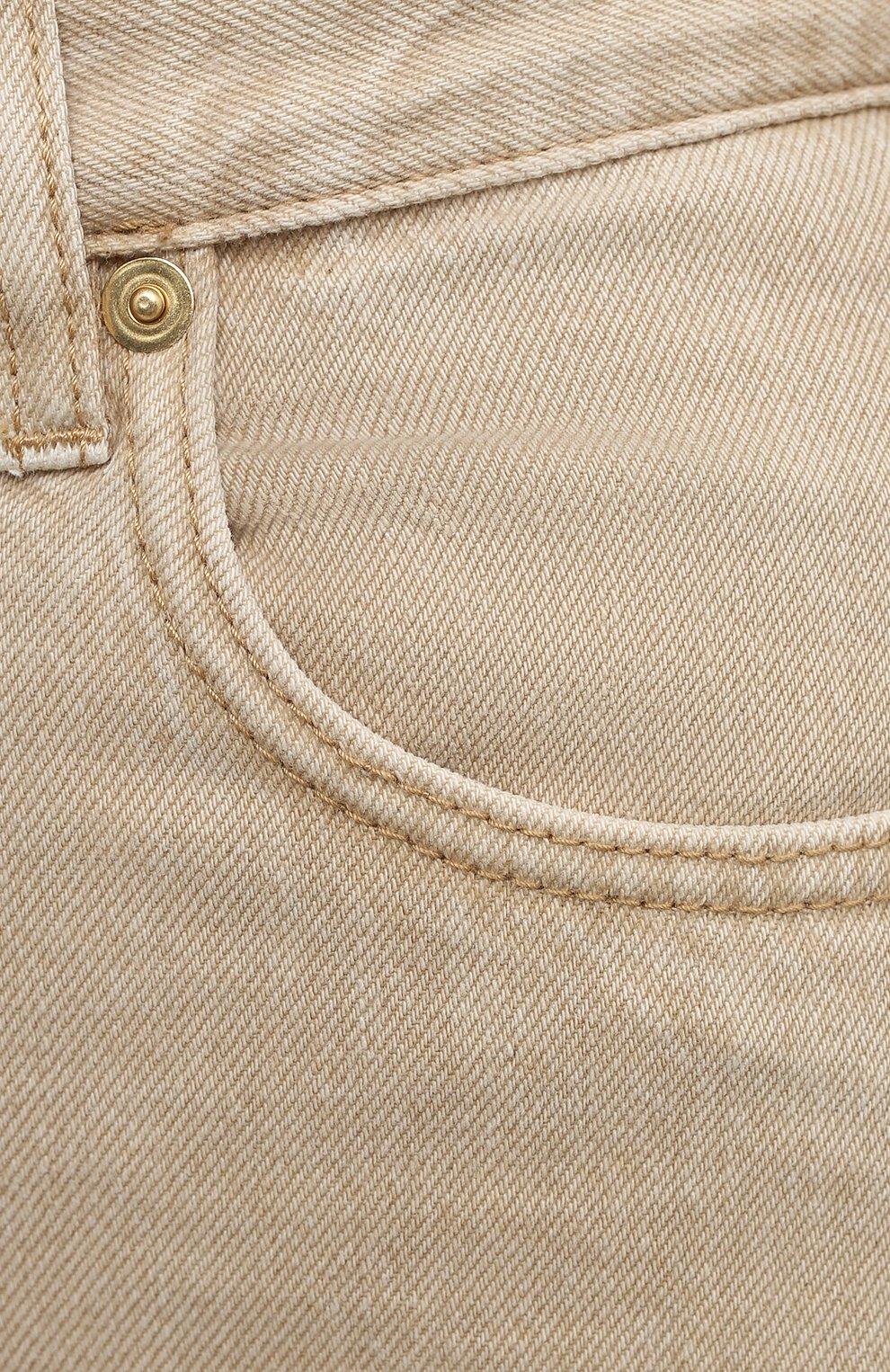 Женские джинсы JACQUEMUS бежевого цвета, арт. 211DE01/124810   Фото 5