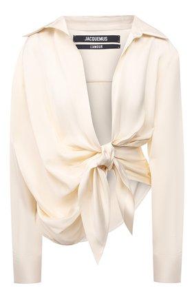 Женская рубашка из вискозы JACQUEMUS кремвого цвета, арт. 211SH02/104120 | Фото 1