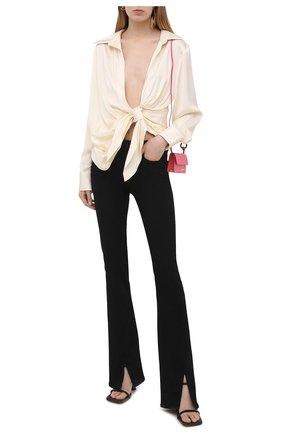 Женская рубашка из вискозы JACQUEMUS кремвого цвета, арт. 211SH02/104120 | Фото 2