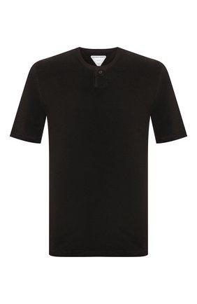 Мужская хлопковая футболка BOTTEGA VENETA темно-коричневого цвета, арт. 656849/V0UE0 | Фото 1 (Рукава: Короткие; Стили: Минимализм; Материал внешний: Хлопок; Принт: Без принта; Длина (для топов): Стандартные)